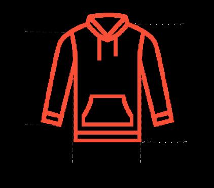 hoodie dimensions